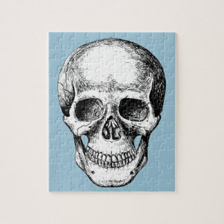 Human Skull White Face Jigsaw Puzzle
