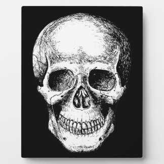 Human Skull White Face Plaque