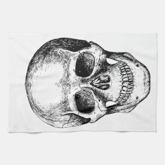 Human Skull White Face Towels