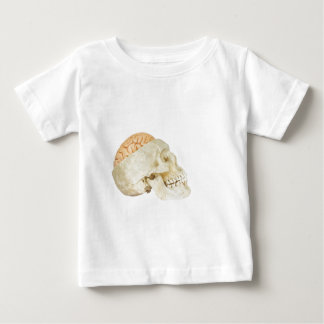 Human skull with brains baby T-Shirt