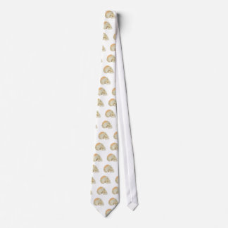 Human skull with brains neck tie