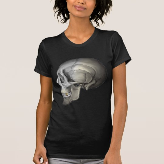 Human Skull with Gold Tooth T-Shirt