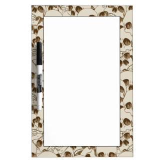 Human skulls background dry erase board
