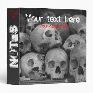 Human Skulls Binder