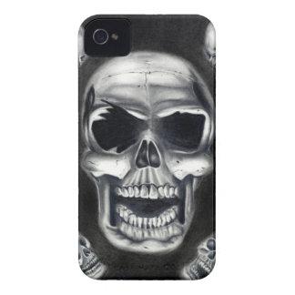 Human Skulls Black Blackberry Bold Case