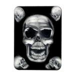 Human Skulls Black Flexible Magnet