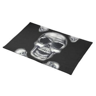 Human Skulls Black Placemat