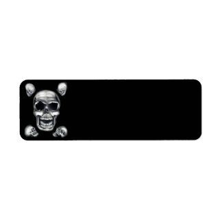 Human Skulls Black Return Address Labels
