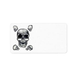 Human Skulls White Address Labels