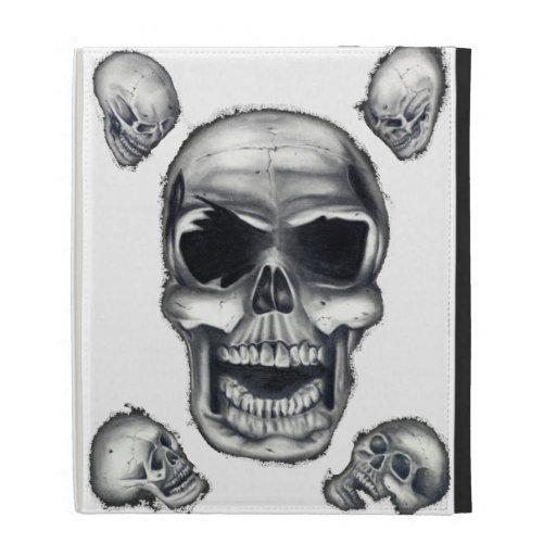 Human Skulls White iPad Caseable Case iPad Folio Case