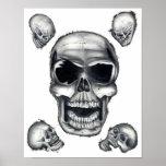 Human Skulls White Poster Art
