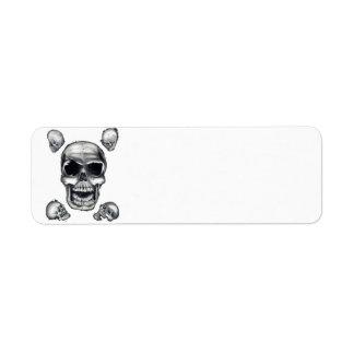 Human Skulls White Return Address Labels