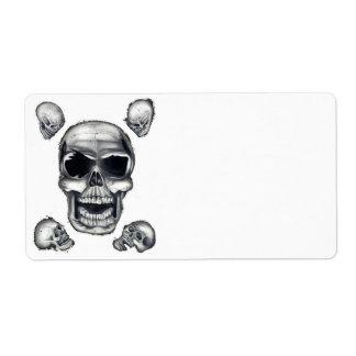 Human Skulls White Shipping Labels