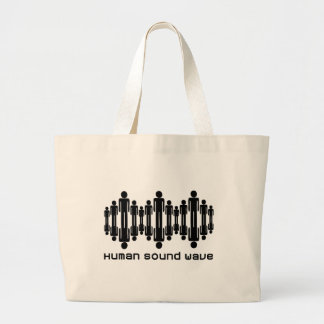 human sound wave tote bag