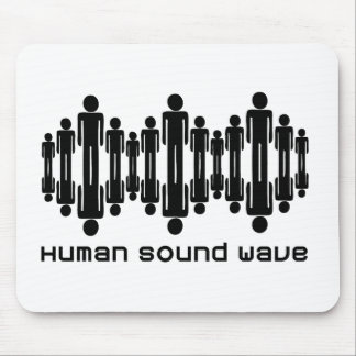 human sound wave mouse pad