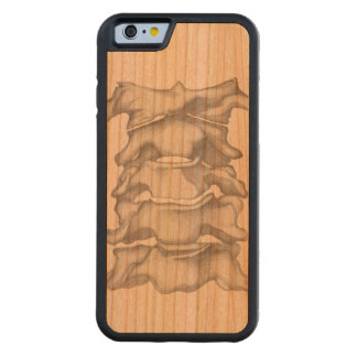 Human Spine Sketch   Maple Wood Iphone Case