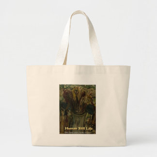 human still life canvas bags