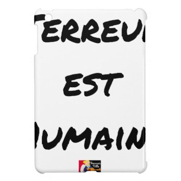 Halloween Themed HUMAN TERROR EAST - Puns François City iPad Mini Covers