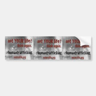 Human Trafficking Awareness Bumper Sticker