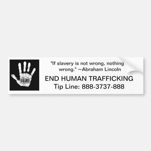 Human Trafficking Tip Line Bumper Stickers