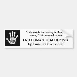 Human Trafficking Tip Line Car Bumper Sticker