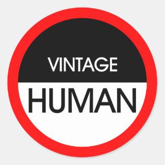 Human Vintage A2 Classic Round Sticker