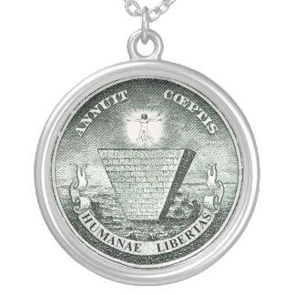 Humanae Libertas Round Pendant Necklace