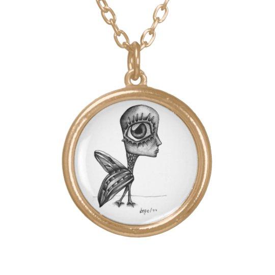 Humanbird drawing necklace