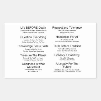 Humandments Rectangular Stickers