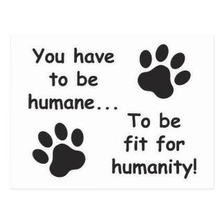Humane for Humanity Postcard