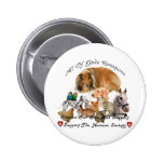 Humane Society All God's Creatures Animal Support Pinback Buttons