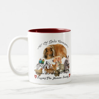 Humane Society All God's Creatures Animal Support Two-Tone Coffee Mug