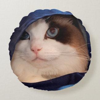 Humane Society cat 2 Round Pillow