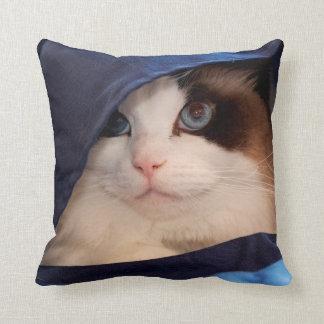Humane Society cat 2 Throw Pillow