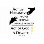 Humanidad contra dios tarjetas postales