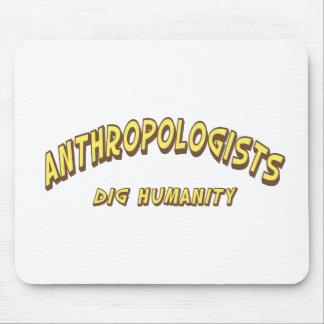 Humanidad del empuje de los antropólogos tapete de raton