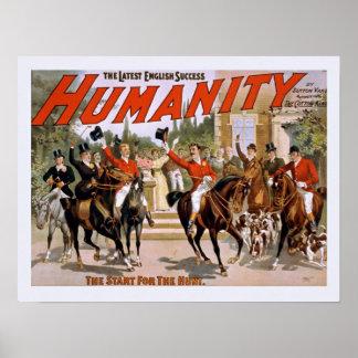 Humanidad: El comienzo para el poster del vintage