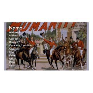 """Humanidad, """"el comienzo para teatro del vintage de plantillas de tarjetas personales"""