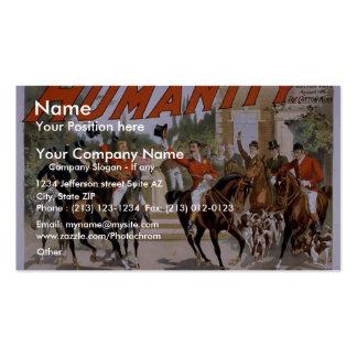 """Humanidad, """"el comienzo para teatro del vintage de tarjeta de visita"""