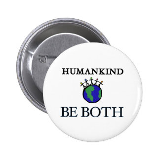 Humanidad Pin Redondo De 2 Pulgadas