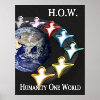 Humanidad un poster del mundo
