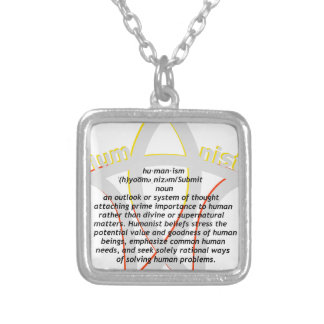 Humanism Silver Plated Necklace
