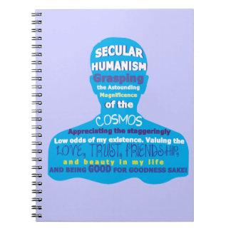 Humanismo secular spiral notebook