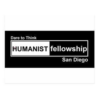 Humanist Fellowship Black and White Postcard