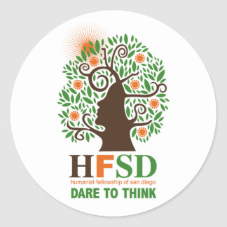 Humanist Fellowship - Dare to Think! Classic Round Sticker