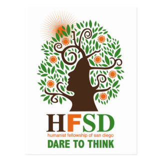 Humanist Fellowship - Dare to Think! Postcard