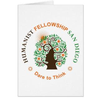 Humanist Fellowship of San Diego Logo Greeting Card