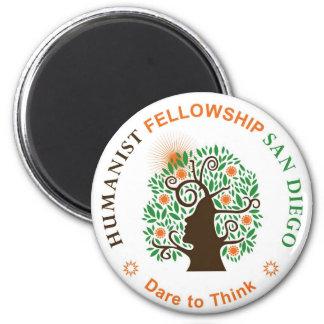 Humanist Fellowship of San Diego Logo Fridge Magnet