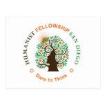 Humanist Fellowship of San Diego Logo Postcards