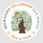 Humanist Fellowship of San Diego Logo Stickers